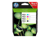 HP 903XL - 4-pack - Høy ytelse - svart, gul, cyan, magenta - original - blekkpatron - for Officejet 69XX; Officejet Pro 69XX 3HZ51AE