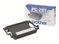 Brother PC201 - 1 - svart - skriverbånd - for Brother MFC-1770, MFC-1780, MFC-1870, MFC-1970; IntelliFAX 1170, 1270, 1570, 1575 PC201